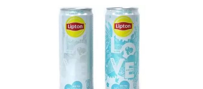 立顿红茶推出感温油墨金属包装罐