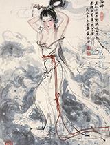 水墨人体,分外妖娆——薛林兴国画人物作品欣赏